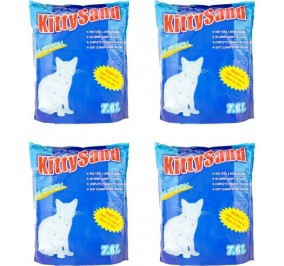Cat Litter Crystal Kitty Sand Plain, 7.6 L - Pack Of 4