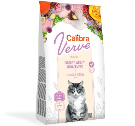 Calibra Cat Verve GF Indoor & Weight Chicken 750g